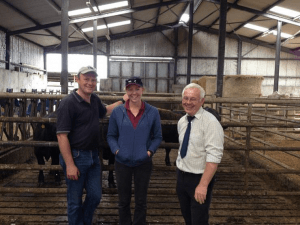 William Haire, Hereford breeder from Northern Ireland who took sessions on cattle 'dressing', me and Clive at an Angus Youth Workshop in the Republic of Ireland.
