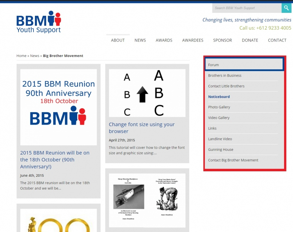 How to get to the Forum from the BBM Homepage - BBM Youth Support